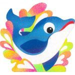 Sand Art Animals Deco Board - Doey Dolphin