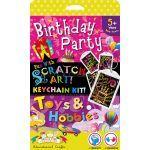 Scratch Art Keychain Kit - Birthday and Toys