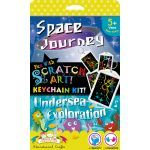 Scratch Art Keychain Kit - Space and Undersea