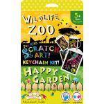Scratch Art Keychain Kit - Zoo and Garden