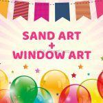 Sand Art + Window Art Party Package