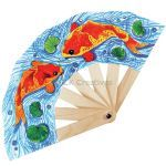 Chinese New Year Paper Fan Pack of 5 - Koi Fish