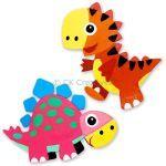 Dinosaur Magnet Kit Pack of 2 - T-Rex And Stegosaurus
