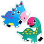 Dinosaur Magnet Kit Pack of 2 - Triceratops And Brontosaurus