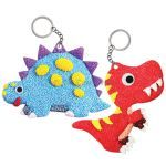 Foam Clay 2-in-1 Dinosaur Keychain Kit