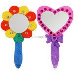 Foam Clay Hand Mirror Kit - Flower and Heart