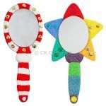 Foam Clay Hand Mirror Kit - Oval and Star