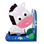 Animal Bookend Safari Theme - Zoma Zebra