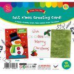 Felt Christmas Snowman Greeting Card - Pack of 10