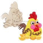 Rooster Colouring Board Pack of 5