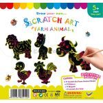 Scratch Art Farm Animal Kit