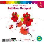 Felt Rose Bouquet - Pack of 10