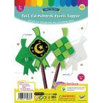 Felt Raya Ketupat Pencil Topper Pack of 10Felt Raya Ketupat Pencil Topper Pack of 10