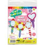 Foam Clay Hand Mirror Kit - Flower and Heart/Oval and Star