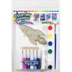 Pour Art Painting Kit With 3D Frame - Space Theme