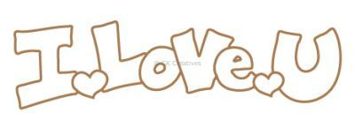 Wooden Greeting Words - I Love U