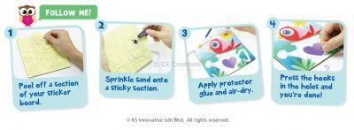 Sand Art Key Hanger Board Kit - Step By Step