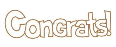 Wooden Greeting Words - Congrats