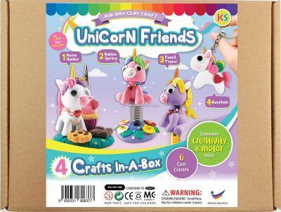 Unicorn Friends Clay Kraft Box Kit - 4-in-1