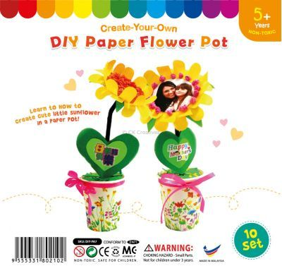 Paper Sunflower Pot - Pack of 10