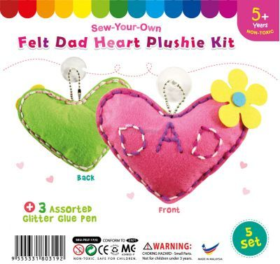 Felt Dad Heart Shape Plushie - Pack of 5
