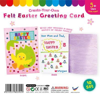 Felt Easter Greeting Card - Pack of 10