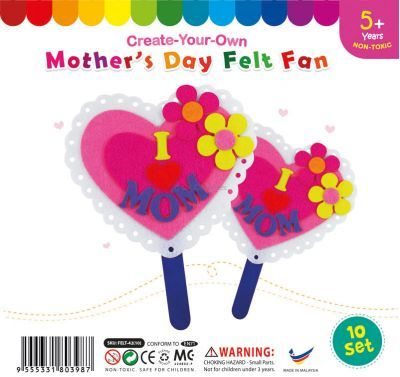 Felt Mother's Day Fan - Pack of 10
