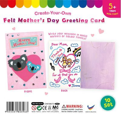Felt Mother's Day Greeting Card - Pack of 10