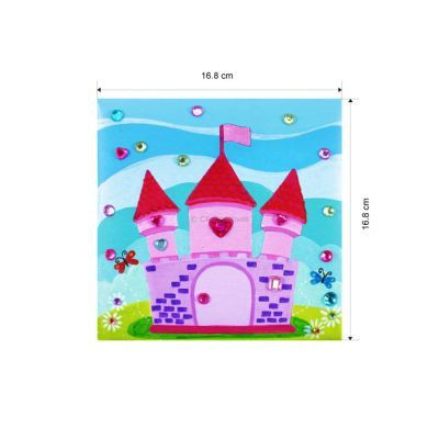 Canvas Art Medium With Jewel Sticker - Size