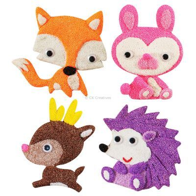 Foam Clay Magnet Kit - Fox, Rabbit, Deer, Porcupine