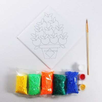 Chinese New Year Foam Clay Canvas Kit - Content