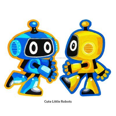Cool Kids' Wonderland Magnet Fun - Cute Little Robots