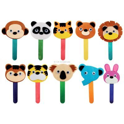 Felt Animal Bookmark Party Kit - Assorted Designs