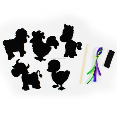 Scratch Art Farm Animal Kit