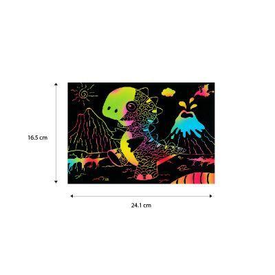 Tangle Scratch Art - Size