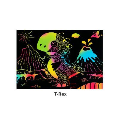 Tangle Scratch Art - Awesome Dino Kit - T-Rex