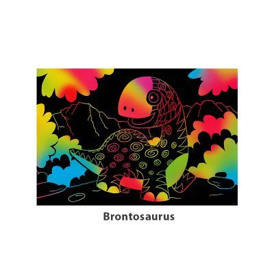 Tangle Scratch Art - Awesome Dino Kit - Brontosaurus