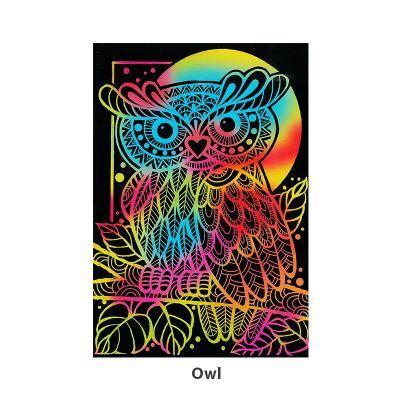 Tangle Scratch Art - Fabulous Bird Kit - Owl