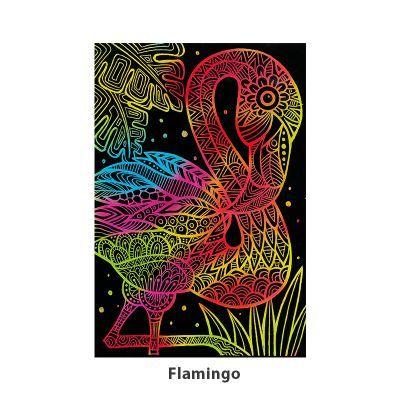 Tangle Scratch Art - Fabulous Bird Kit - Flamingo