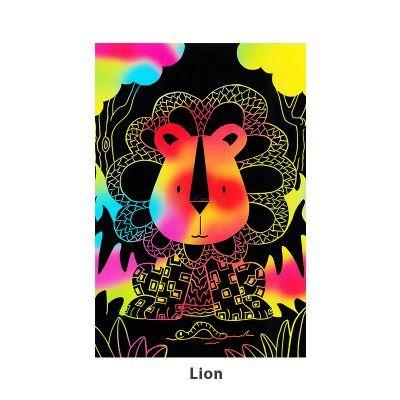 Tangle Scratch Art - Jungle Animal Kit - Lion
