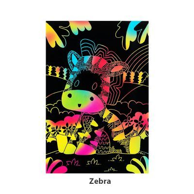 Tangle Scratch Art - Jungle Animal Kit - Zebra
