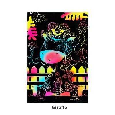 Tangle Scratch Art - Jungle Animal Kit - Giraffe