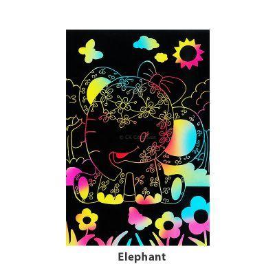 Tangle Scratch Art - Jungle Animal Kit - Elephant