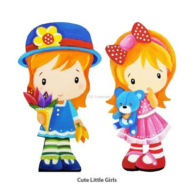 Sweet Girls' Wonderland Magnet Fun - Cute Little Girls