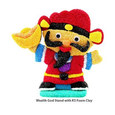 Wealth God Stand with KS Foam Clay For a 3D Effect