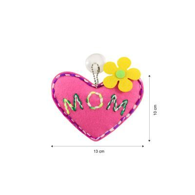 Felt Mom Heart Shape Plushie - Pack of 5