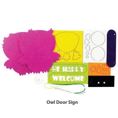 Felt Owl Door Sign - Content