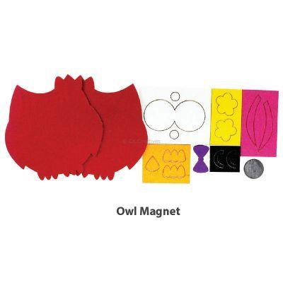 Felt Owl Magnet - Content