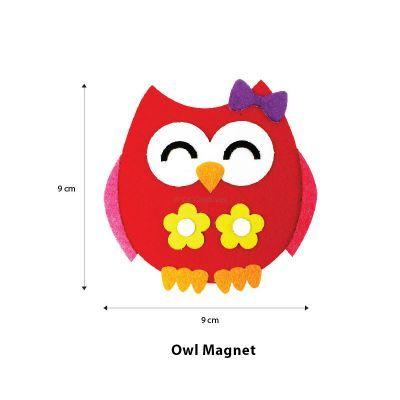 Felt Owl Magnet - Size