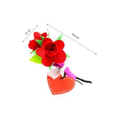 Felt Rose Bouquet - Pack of 10